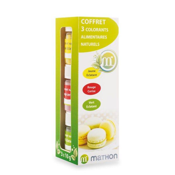 coffret 3 colorants alimentaires naturels jaune clatant rouge cerise vert clatant - Colorants Alimentaires Naturels