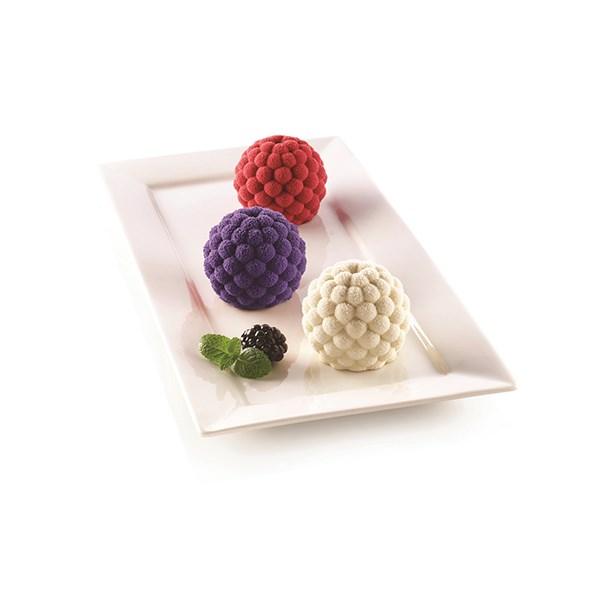 nouveau style et luxe la vente de chaussures acheter bien Moule silicone 3D 6 mini gâteaux fruits des bois
