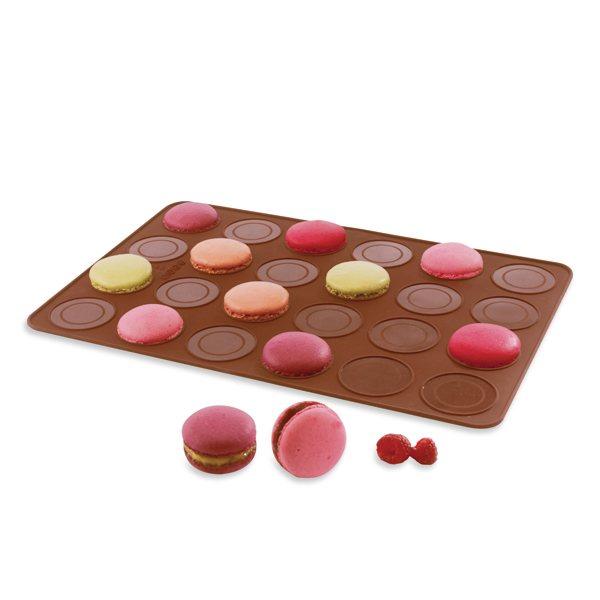 flexi plaque silicone 24 coques macarons mathon moules et plaques en silicone mat riel de. Black Bedroom Furniture Sets. Home Design Ideas