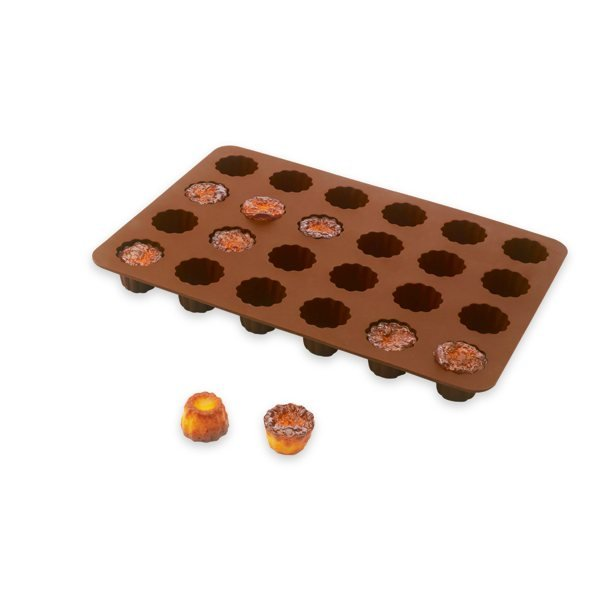 Flexi' Plaque silicone 24 mini-canelés Mathon zoom