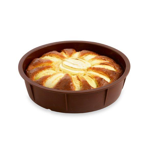 flexi moule à gâteau rond silicone 24 cm mathon - moules et