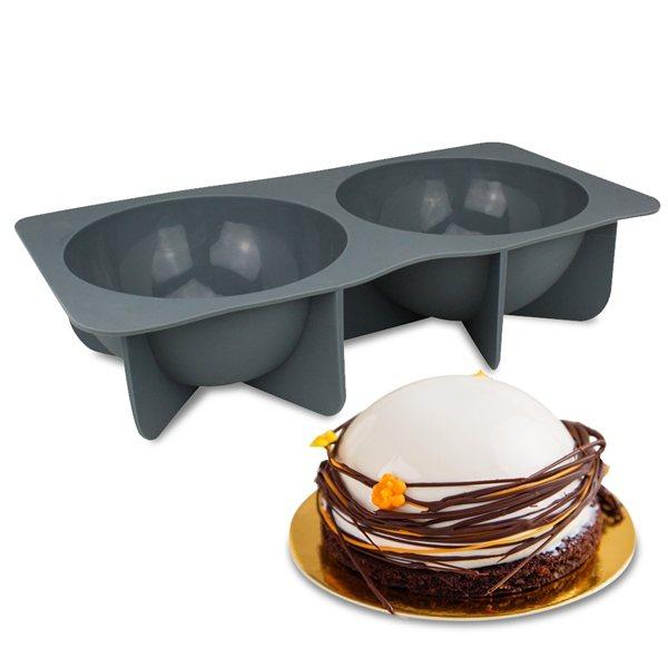 moule 2 demi sph res 18 cm moules et plaques en silicone. Black Bedroom Furniture Sets. Home Design Ideas