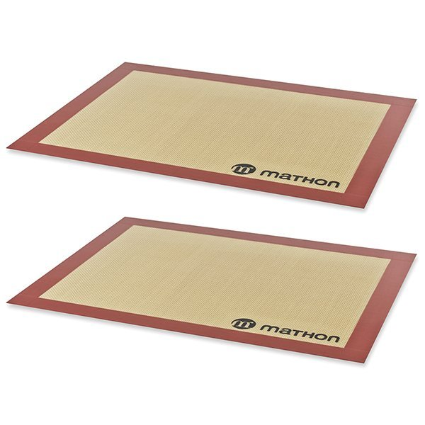 Lot de 2 Tapis de cuisson professionnels en silicone Mathon zoom