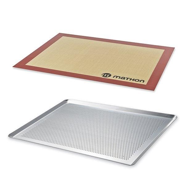 meilleure sélection 3ce0e cebab Lot Plaque à pâtisserie perforée 40 cm et tapis de cuisson pro