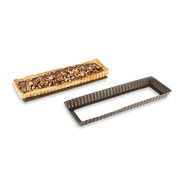 Moule à tarte amovible rectangle acier revêtu anti-adhérent bords cannelés  36 cm Mathon - Mathon.fr 135c643a1778