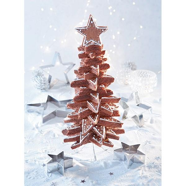 Coffret Sapin De Noël 3d En Biscuits 7 Pièces