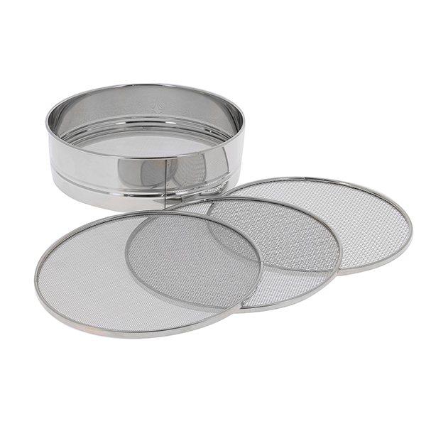 Tamis professionnel inox 4 mailles interchangeables 21 cm for Tamis de cuisine