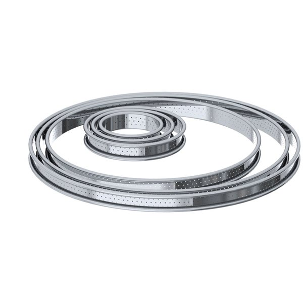 Cercle à tarte inox perforé 26 cm De Buyer zoom