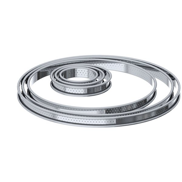 Cercle à tarte inox perforé 28 cm De Buyer zoom