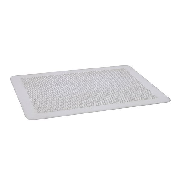 Plaque de cuisson perforée sans rebords en aluminium 30 x 20 cm De Buyer zoom