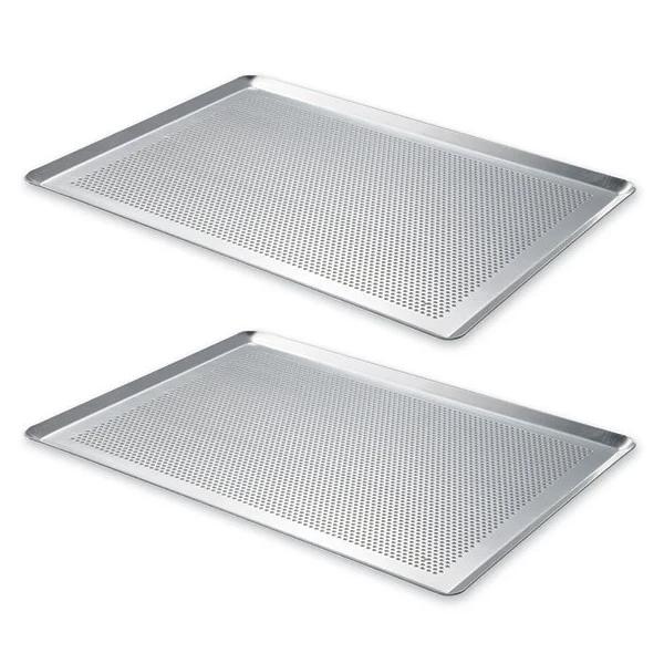Lot 2 plaques p tisserie micro perfor e en aluminium 40 cm mathon moules et plaques en m tal - Plaque en aluminium pour cuisine ...