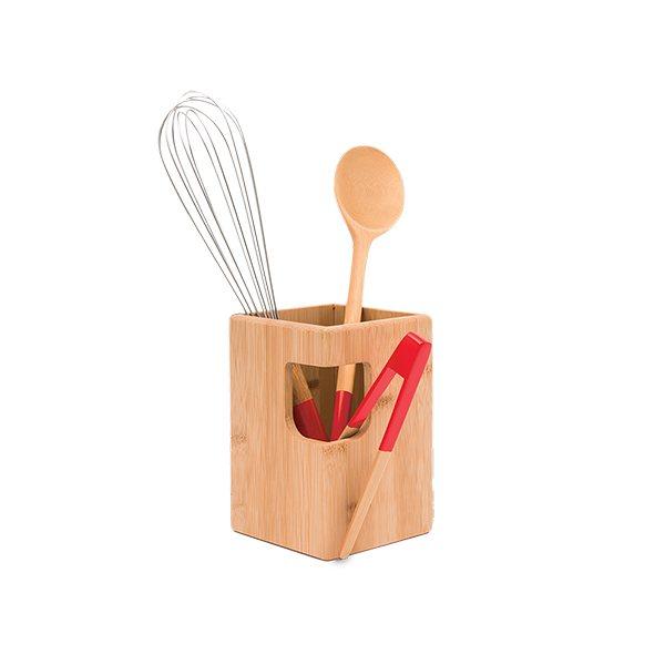 pot ustensile bambou naturel pebbly pots ustensiles organisation de la cuisine. Black Bedroom Furniture Sets. Home Design Ideas
