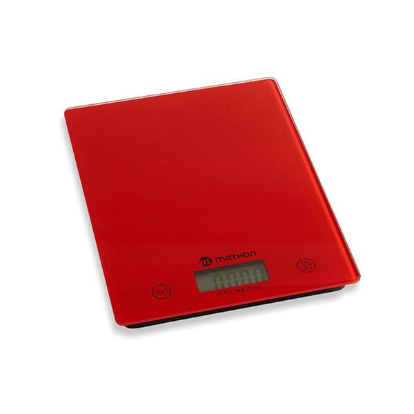 Balance de cuisine digitale rouge 5 kg mathon Balance de cuisine rouge