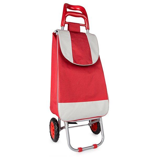 Chariot de courses rouge 2 roues chariots et paniers de for Chariot de jardin 2 roues