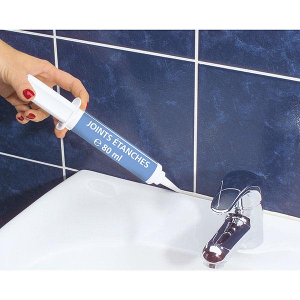 Joint tanche blanc 80 ml produits d 39 entretien pour - Joint etanche salle de bain ...