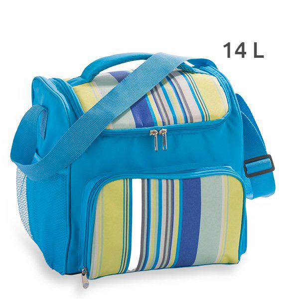 glaci re souple isotherme 14 l bleu mathon bo tes pique. Black Bedroom Furniture Sets. Home Design Ideas