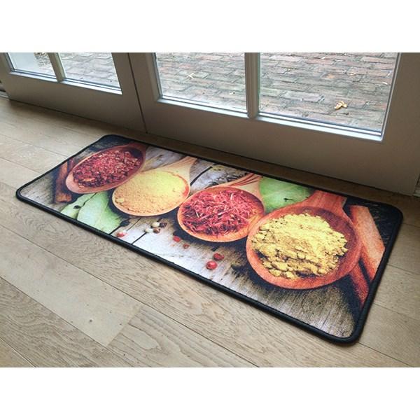Tapis de cuisine motif pices 120 cm am nagement de l - Tapis de cuisine originaux ...
