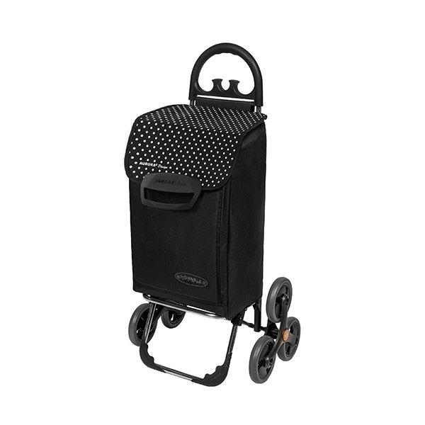 chariot de courses 6 roues noir. Black Bedroom Furniture Sets. Home Design Ideas