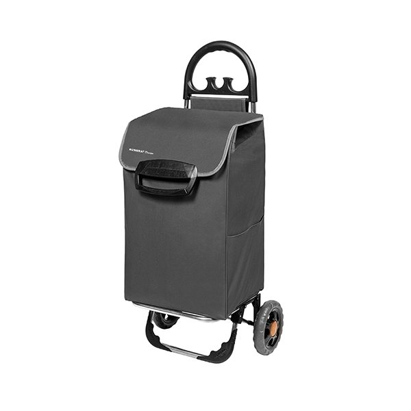 chariot de courses 70 l gris. Black Bedroom Furniture Sets. Home Design Ideas