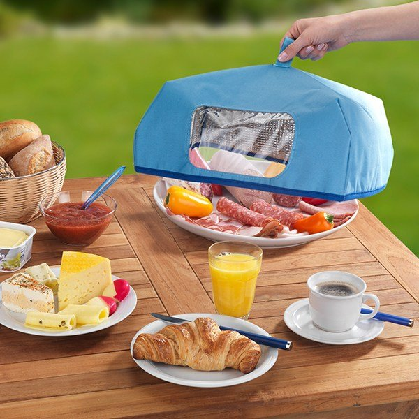 Cloche alimentaire isotherme grande taille bleu zoom