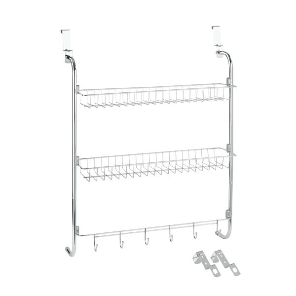 Etag re de porte 2 paniers et accroche torchons wenko for Amenagement etagere cuisine