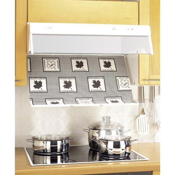 2 filtres pour hotte avec indicateur de saturation wenko - Filtre pour hotte de cuisine ...