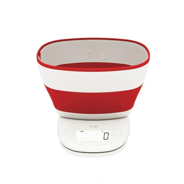Balance superbowl rouge aubecq balances et doseurs de for Ustensile cuisine rouge