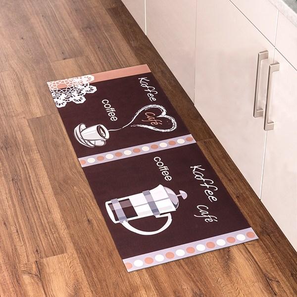 Tapis de cuisine motif café 1,20 m
