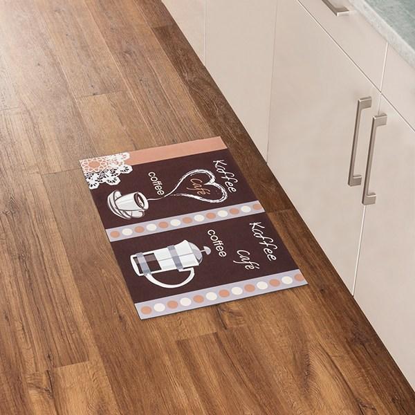 Tapis de cuisine motif café 75 cm