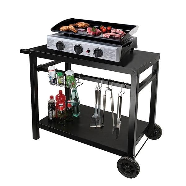 chariot pour plancha en m tal dessertes de cuisine et. Black Bedroom Furniture Sets. Home Design Ideas