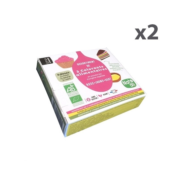 Lot de 2 boites de 3 colorants zoom