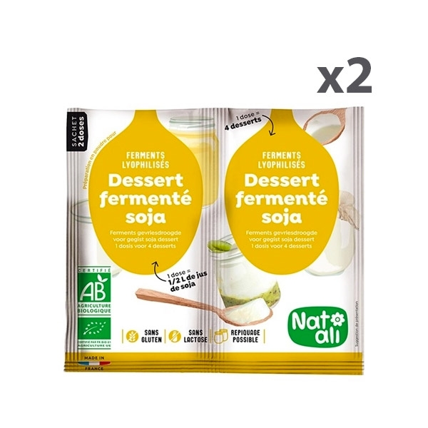 Lot de 2x2 doses Ferments soja zoom