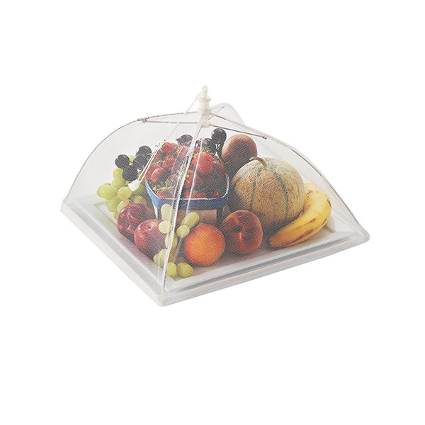 Cloche prot ge plats parapluie pliante bo tes et accessoires de conservation ustensiles de - Conservation plat cuisine ...