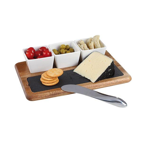 plateau de service ap ritif et fromage 5 pi ces vaisselle et service table art de la table. Black Bedroom Furniture Sets. Home Design Ideas