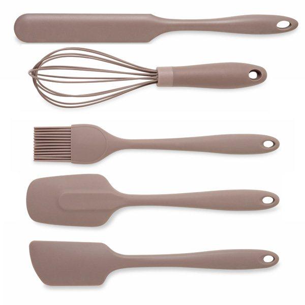 Lot de 5 ustensiles en silicone spatule longue spatule for Ustensile de cuisine en x