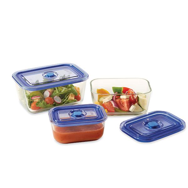 Set de 3 bo tes de conservation en verre mathon bo tes for Set ustensiles de cuisine