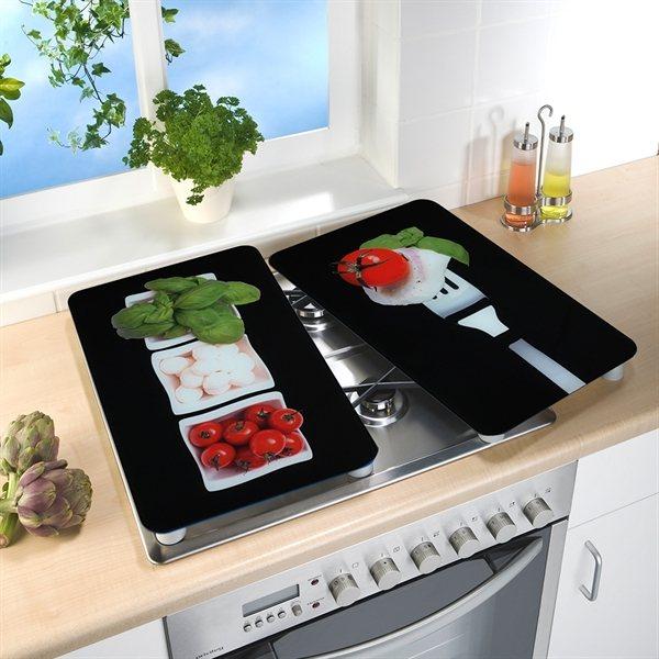 set 2 couvre plaques protection motifs caprese. Black Bedroom Furniture Sets. Home Design Ideas