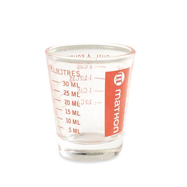 Mini verre doseur en verre 35 ml mathon balances et for 1 cuillere a table en ml
