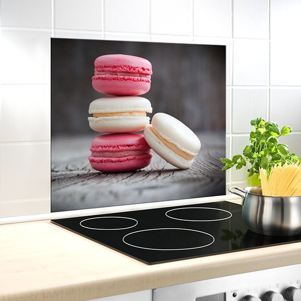protection murale en verre macarons wenko protection plaques de cuisson cr dence. Black Bedroom Furniture Sets. Home Design Ideas