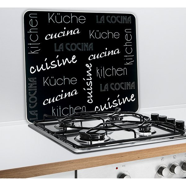 protection murale cuisine du monde wenko wenko protection plaques de cuisson cr dence. Black Bedroom Furniture Sets. Home Design Ideas