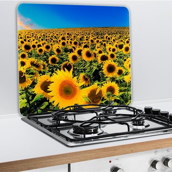 Protection murale en verre tournesol wenko protection for Plaque de protection cuisine murale