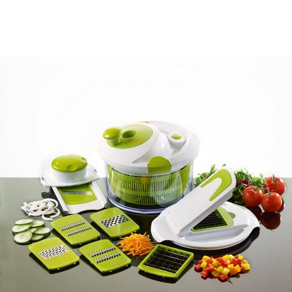 essoreuse salade 8 en 1 multifonctions 26 cm mathon essoreuses accessoires herbes et salade. Black Bedroom Furniture Sets. Home Design Ideas