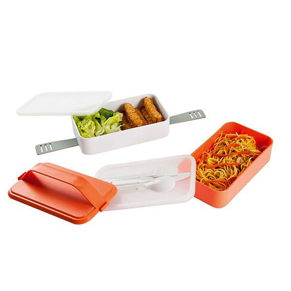 lunch box 2 compartiments orange domoclip bo tes pique. Black Bedroom Furniture Sets. Home Design Ideas