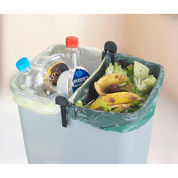 2 s parateurs de sacs poubelles poubelles de cuisine et de salle de bain organisation de la. Black Bedroom Furniture Sets. Home Design Ideas