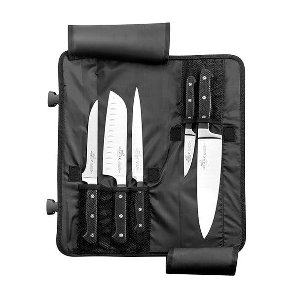 trousse en nylon 5 couteaux de cuisine pluton sabatier set de couteaux et coffrets couteaux. Black Bedroom Furniture Sets. Home Design Ideas