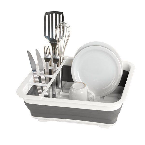 egouttoir vaisselle pliable gris. Black Bedroom Furniture Sets. Home Design Ideas