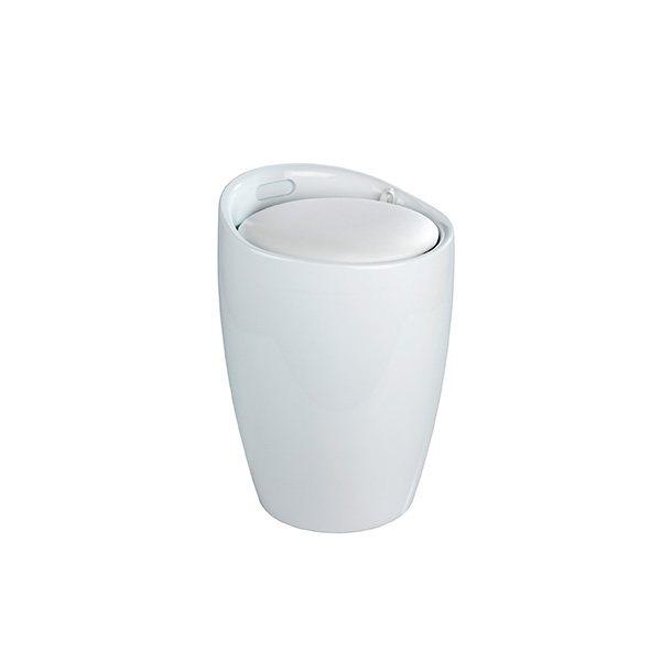 Tabouret Bac Linge 2 En 1 Blanc Am Nagement De La Salle De Bain Am Nagement