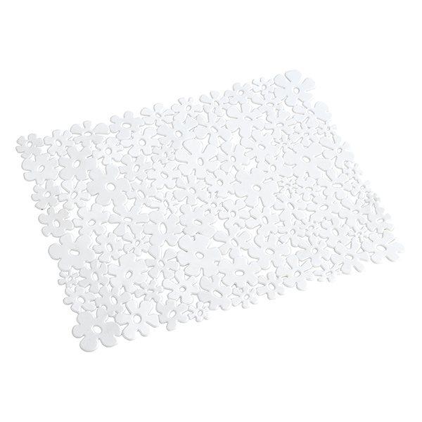 tapis fond d vier motif fleurs blanc wenko egouttoir. Black Bedroom Furniture Sets. Home Design Ideas