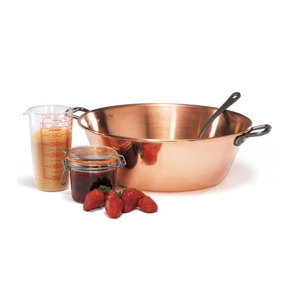 bassine à confiture cuivre 38 cm - matériel à confiture - matériel