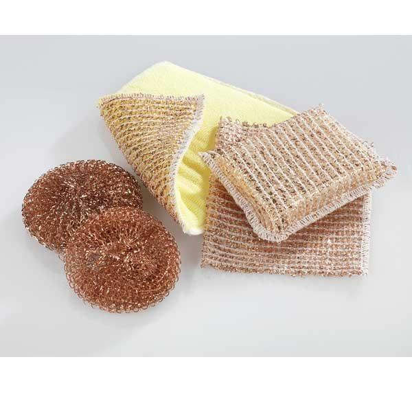 Set de nettoyage en cuivre 5 pi ces produits et for Ustensiles de cuisine en cuivre